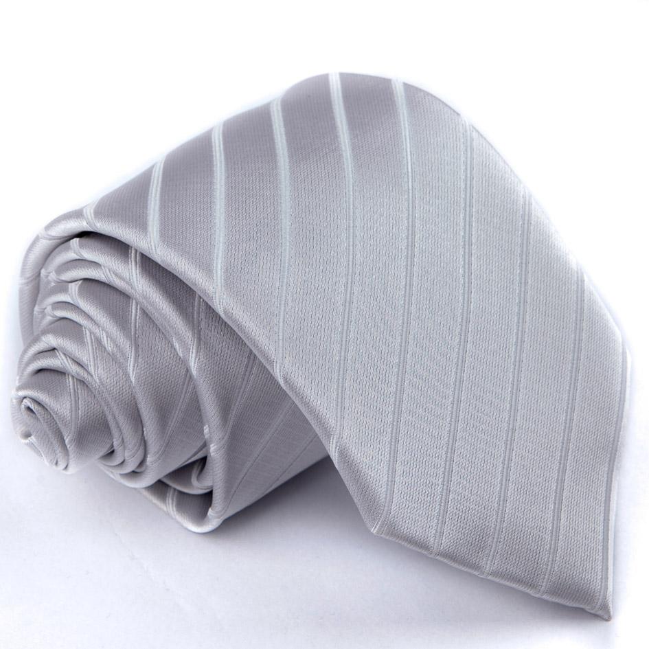 Šedá svatební kravata Greg 91073