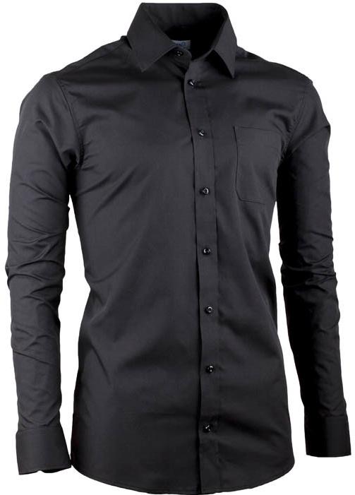 Černá pánská košile s plastickým proužkem rovná Native 30133