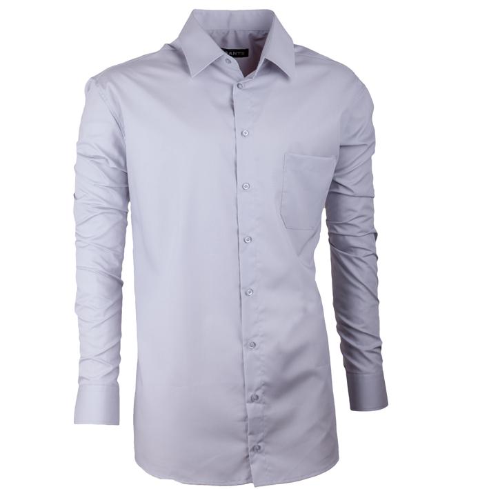 Šedá prodloužená košile s dlouhým rukávem Assante 20105