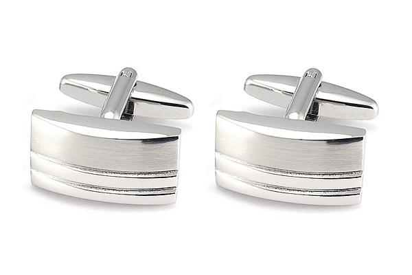 Manžetové knoflíčky stříbrné barvy Assante 90568