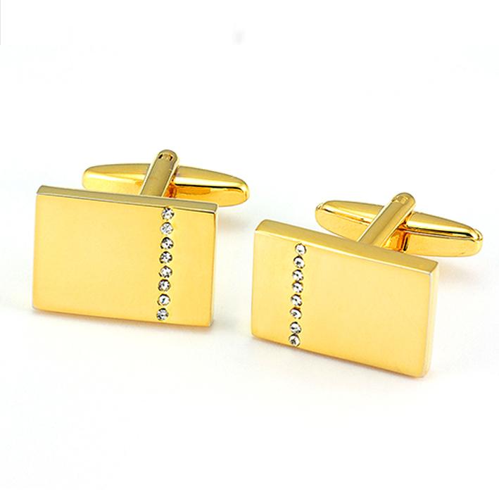 Manžetové knoflíky zlaté barvy Assante 90587