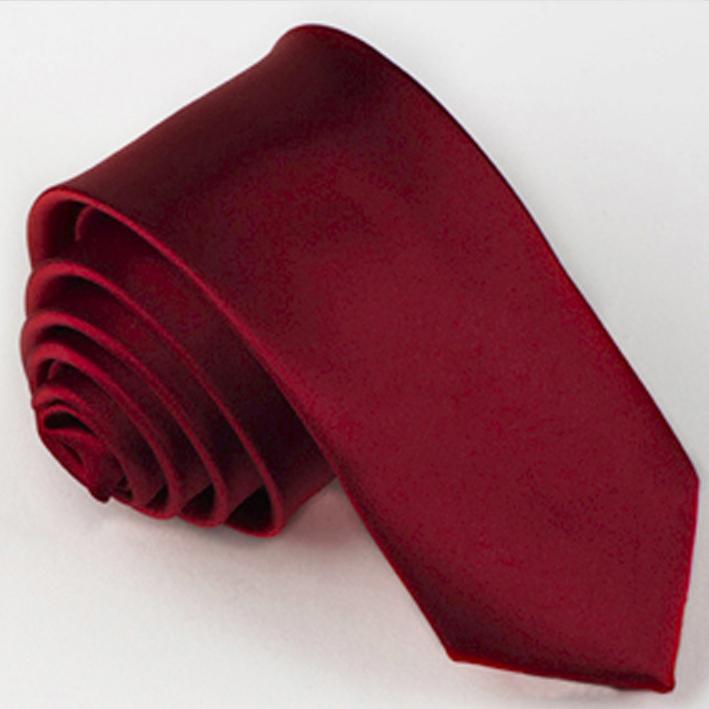 Slim fit tmavě červená kravata Greg 99132