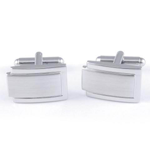 Manžetové knoflíčky stříbrné barvy Assante 90538