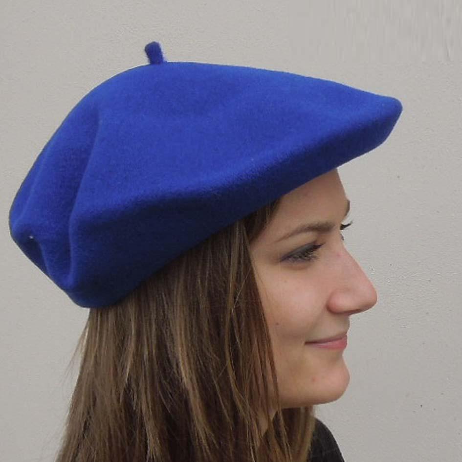 Dámský baret královská modrá Tonak 87216