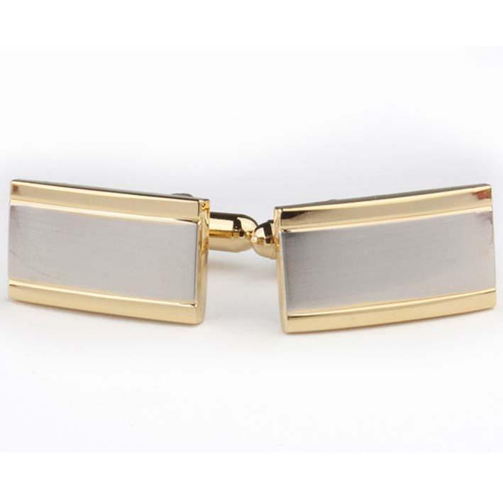 Manžetové knoflíky stříbrné a zlaté barvy Assante 90529