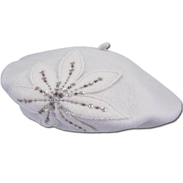 Béžová baret dámský luxusní Tonak 87295