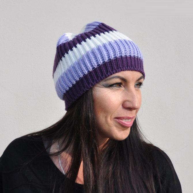 Fialový baret dámský luxusní Tonak 87298