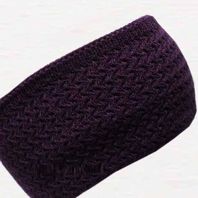 Fialová úpletová čepice zimní Pletex 88232