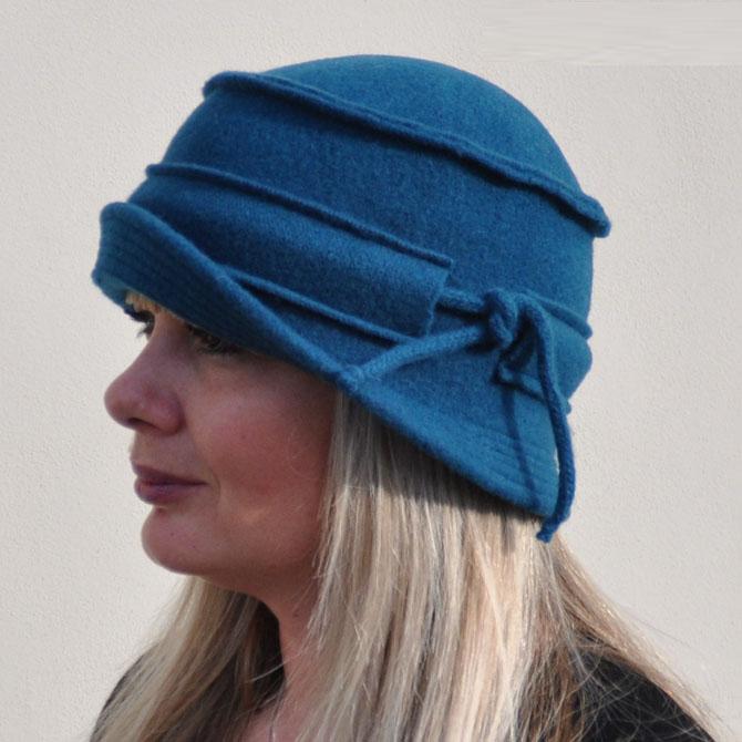 Modrý klobouk dámský Anytra 87138
