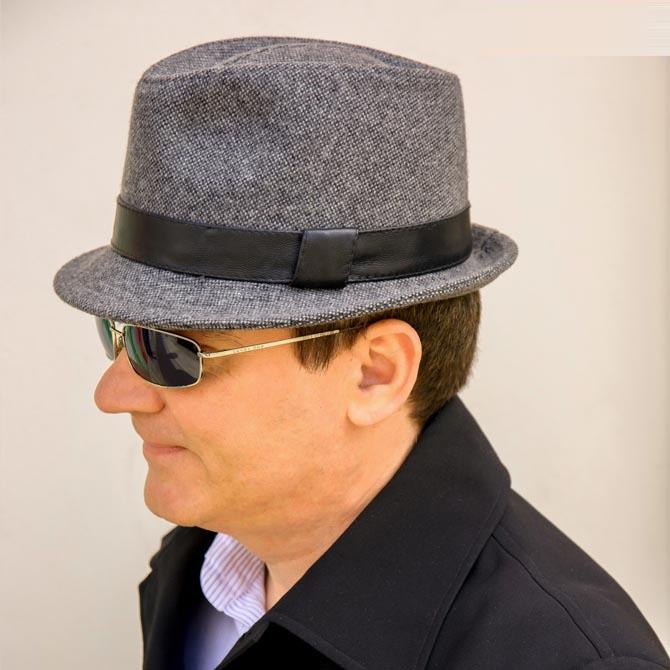 Šedý pánský klobouk Assante 85096