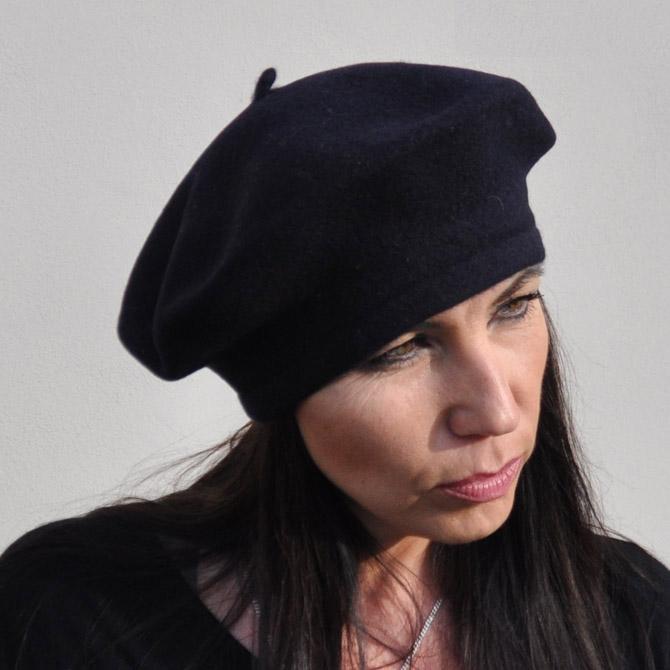 Černý baret dámský Tonak 87208