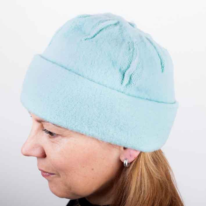 Zelená dámská módní čepice z čisté vlny Tonak 87301