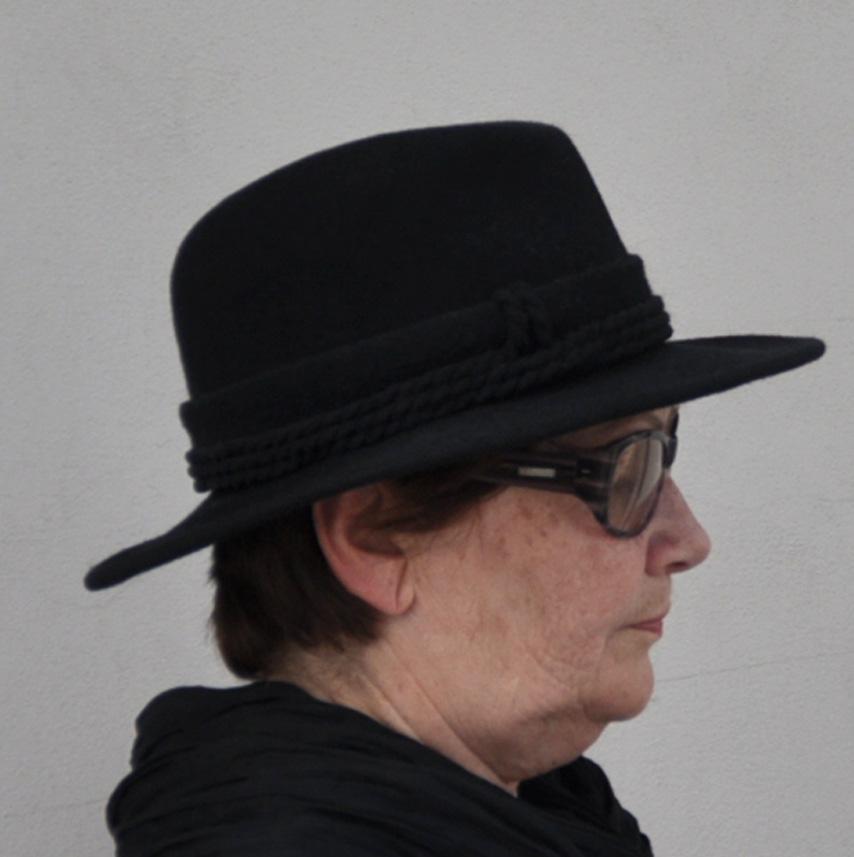 Černý luxusní dámský klobouk Tonak 86948