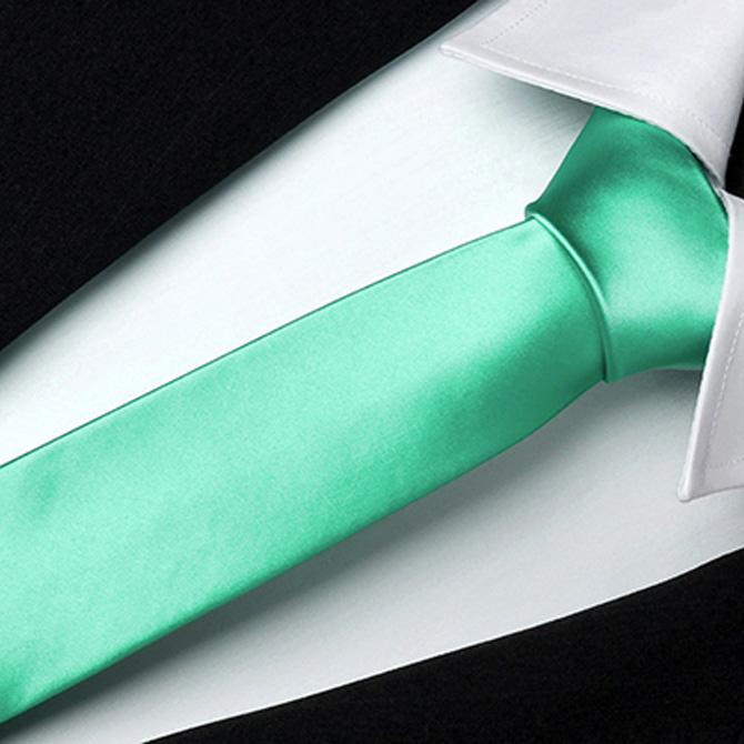 Smaragdová slim fit zeleno modrá kravata Greg 99154