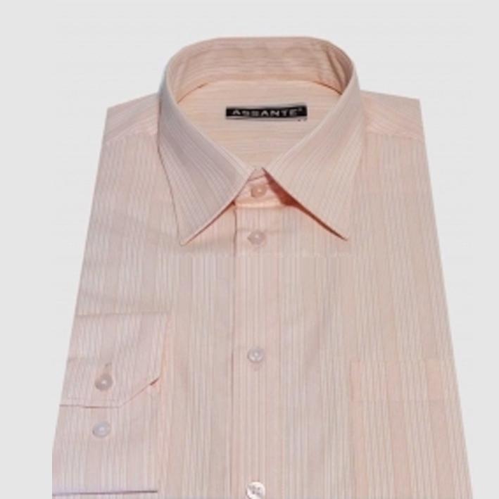 Prodloužená pánská košile světle oranžová Assante 20610