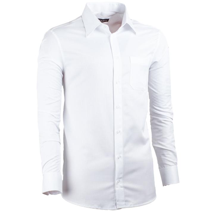 Pánská košile v prodloužené délce regular fit bílá Assante 20015