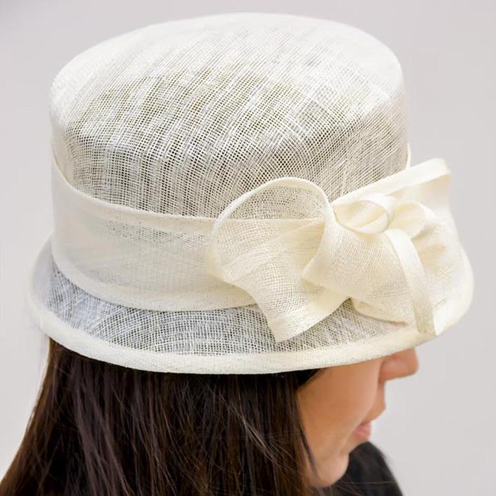 Šampaň dámský sisalový klobouk luxusní Assante 82211