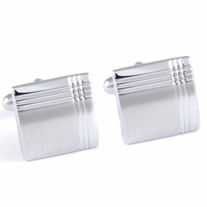 Manžetové knoflíčky stříbrné barvy Assante 90523