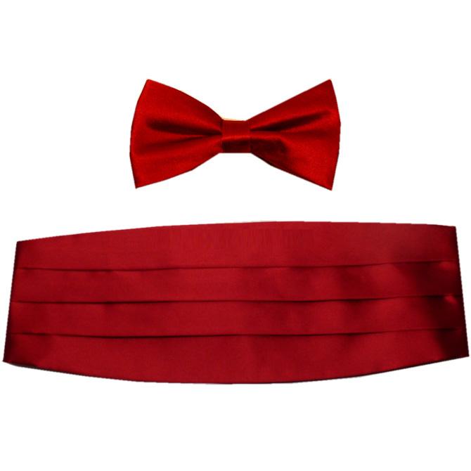 Červená hedvábná šerpa s motýlkem Assante 90372