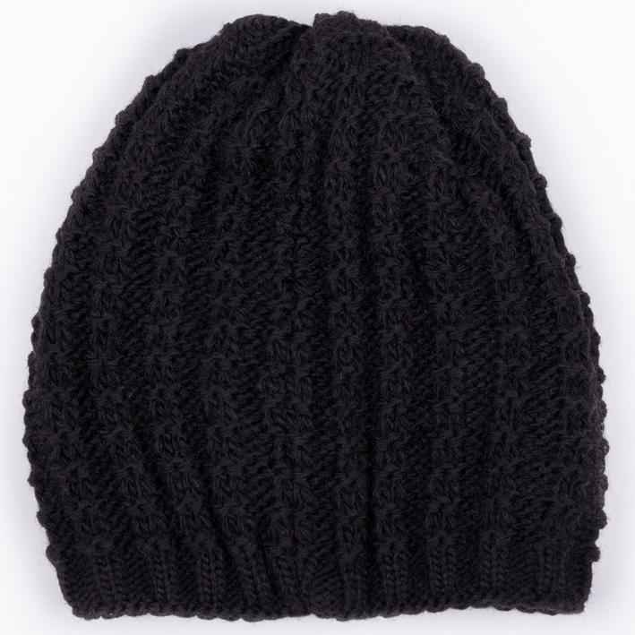 Černá pletená čepice dámská zimní Assante 88076