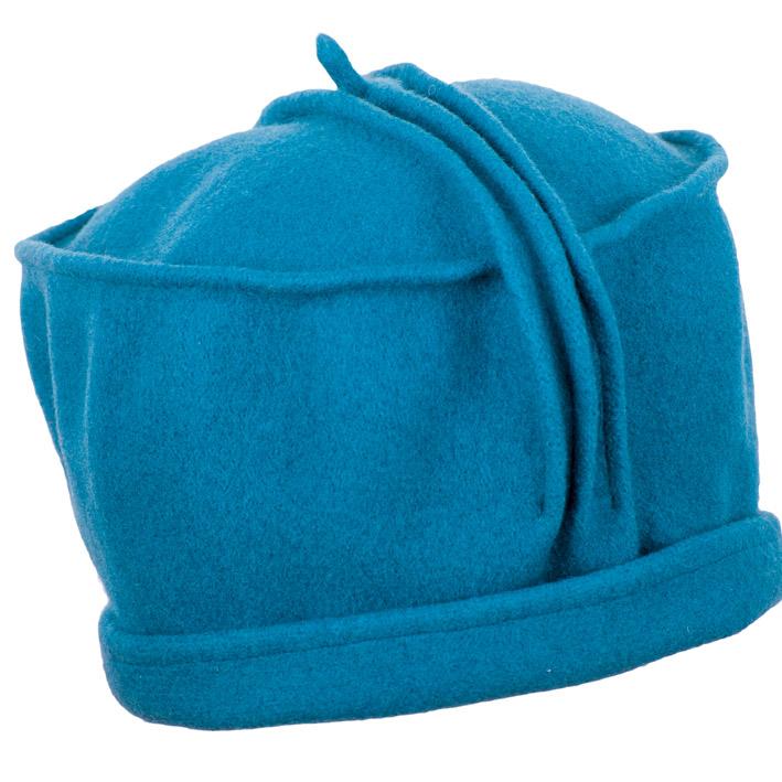 Petrolejově modrý dámský klobouk vlněný Tonak 87379