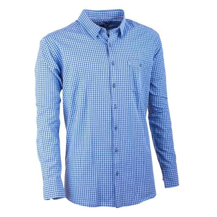 Modrá pánská košile dlouhý rukáv 100 % bavlna Tonelli 110907