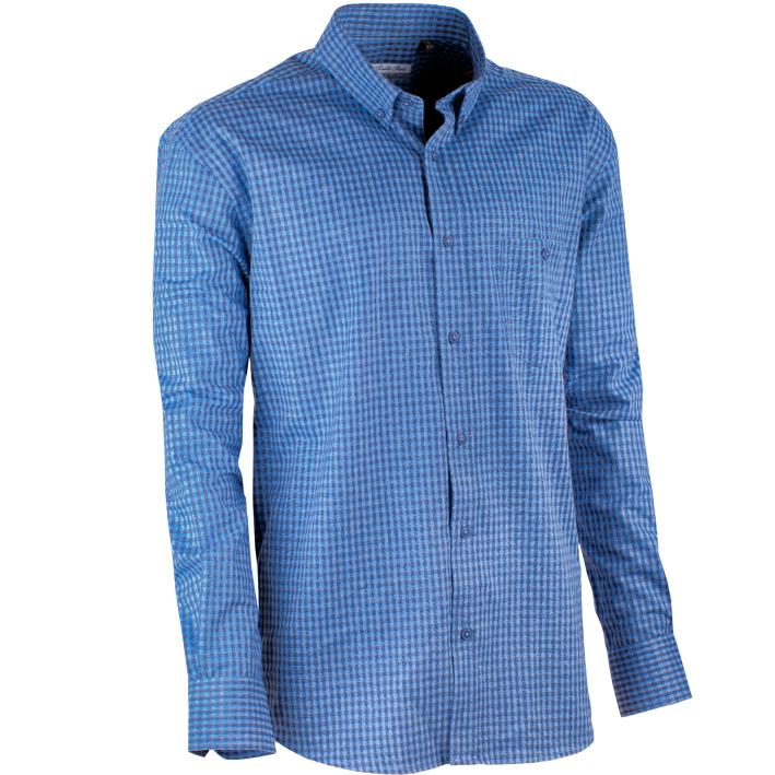 Modrá luxusní pánská teplá košile flanelová Tonelli 110908