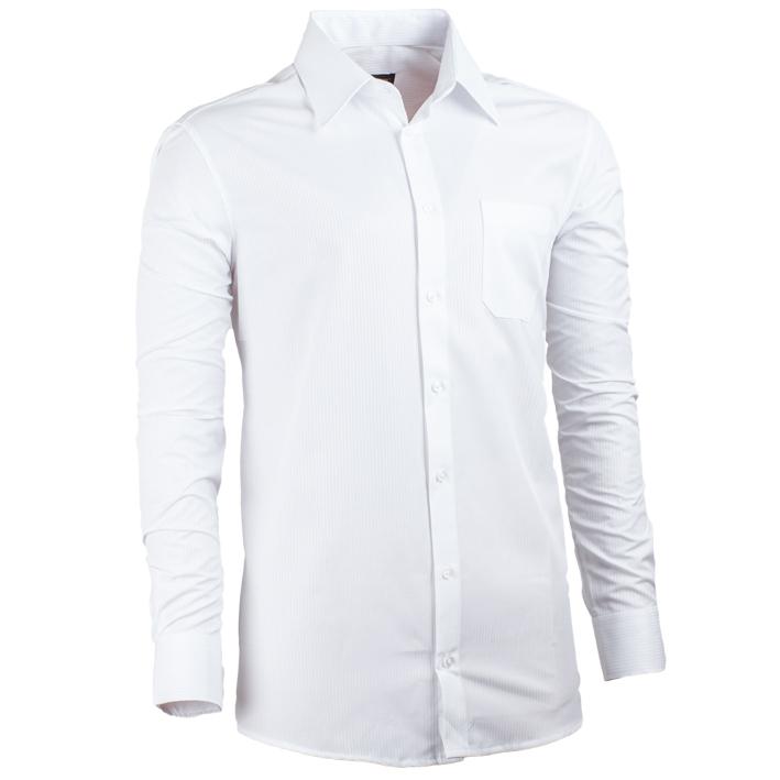 Pánská košile prodloužená délka regular fit bílá Assante 20018