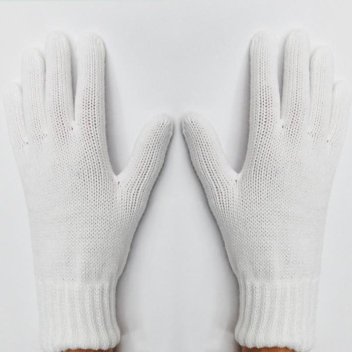Bílé pletené dámské rukavice Assante 89742