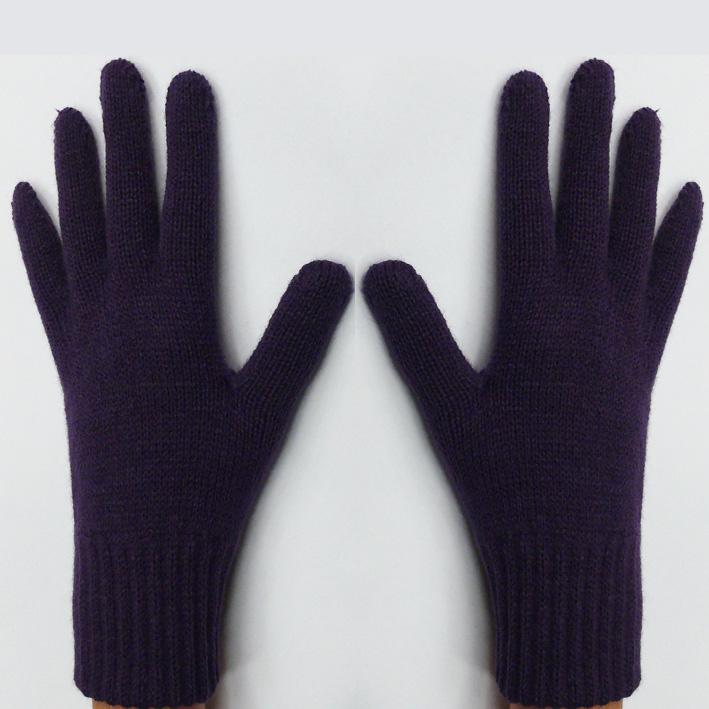 Fialové pletené rukavice Assante 89751