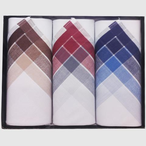 Bílé pánské kapesníky v dárkovém balení Assante 90628