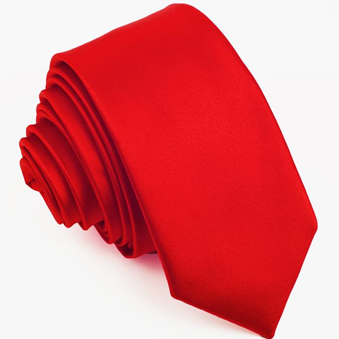 Červená úzká kravata Rene Chagal 99130