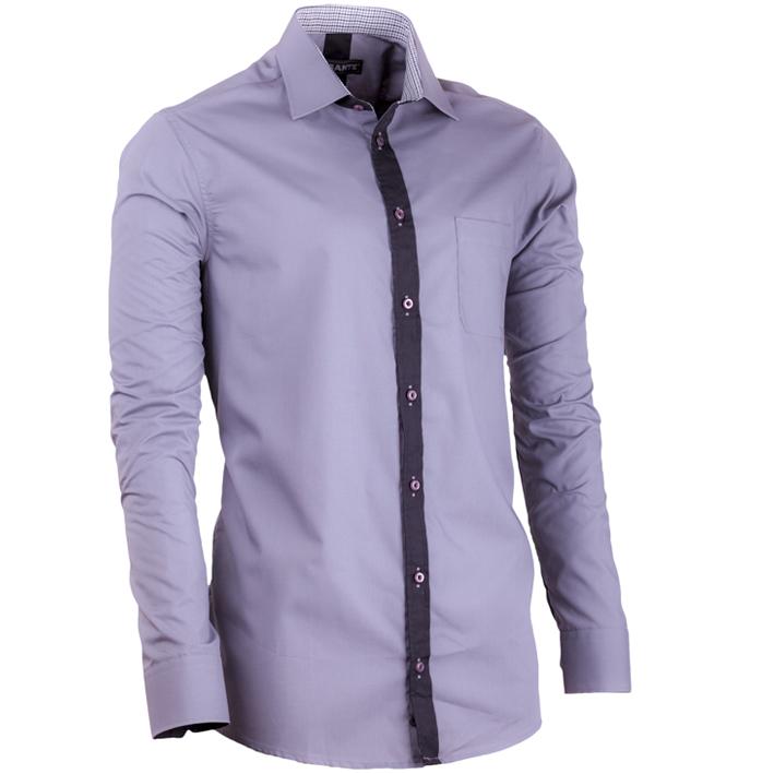 Pánská elegantní košile šedá Assante 30699