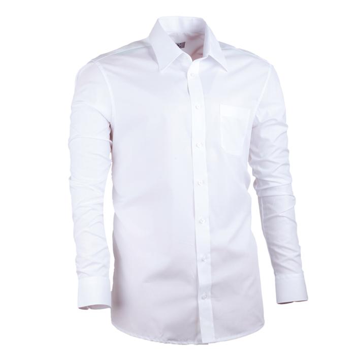 Pánská košile extra prodloužená bílá rovný střih Assante 20021