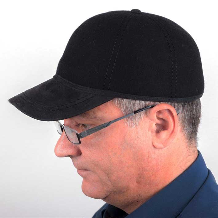 Černá čepice basebolka zimní Mes 85211