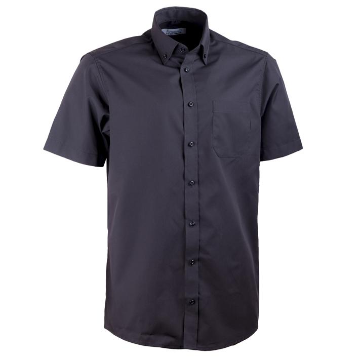 Černá pánská košile rovná s krátkým rukávem Aramgad 40136