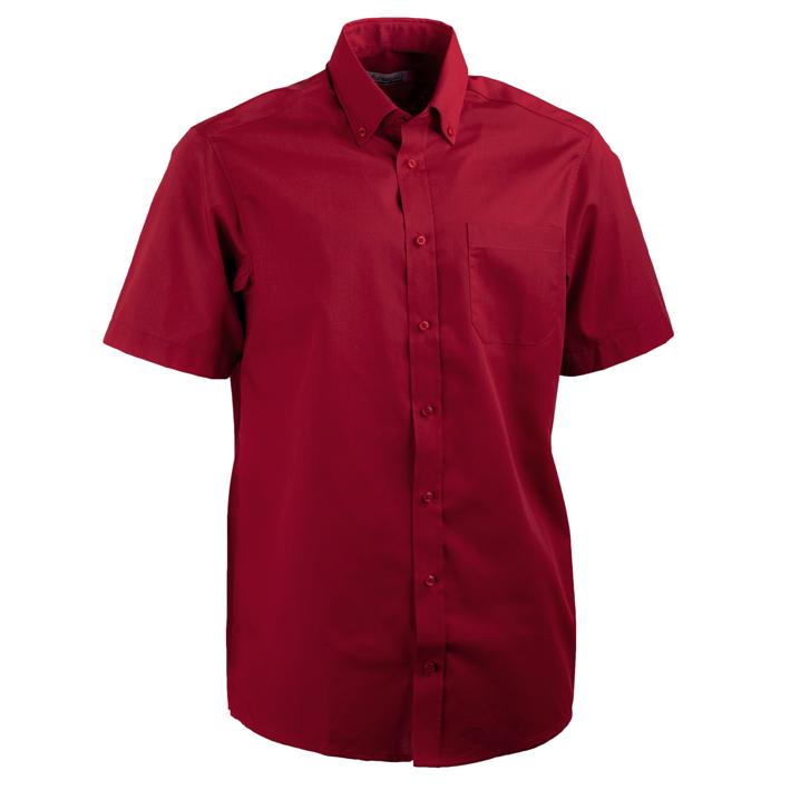 Červená pánská košile rovná s krátkým rukávem Aramgad 40335