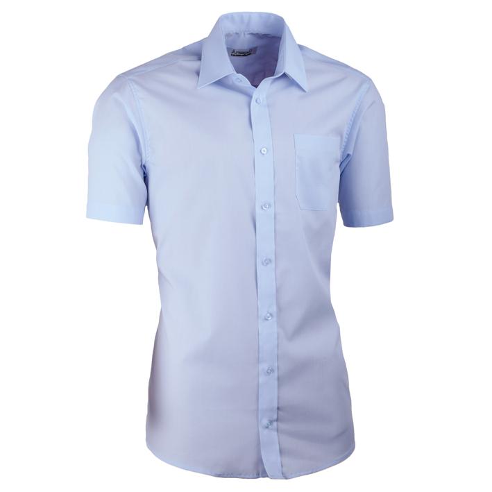 Modrá pánská košile s krátkým rukávem slim fit Aramgad 40432
