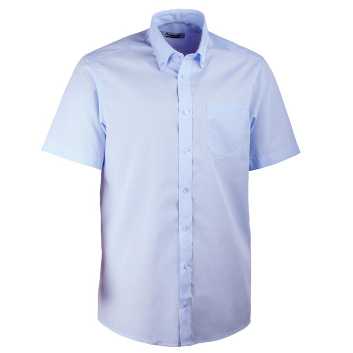 Modrá pánská košile rovná s krátkým rukávem Aramgad 40435