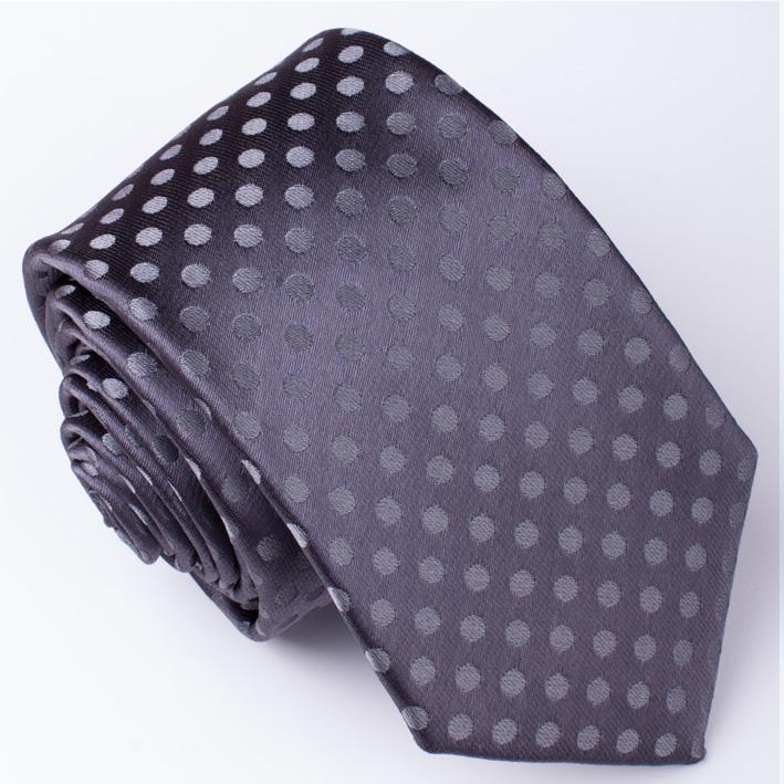Pánská šedá kravata Rene Chagal 91174