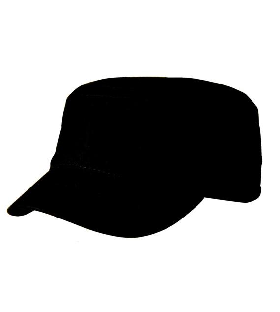 Černá moderní čepice se seprané bavlny Cofee 81151 velikost Uni