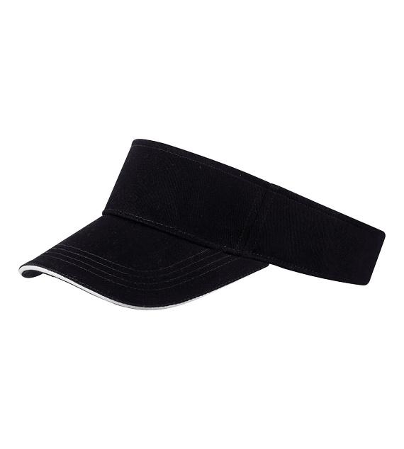 Černý kšilt s bavlněným potícím páskem Cofee 81159