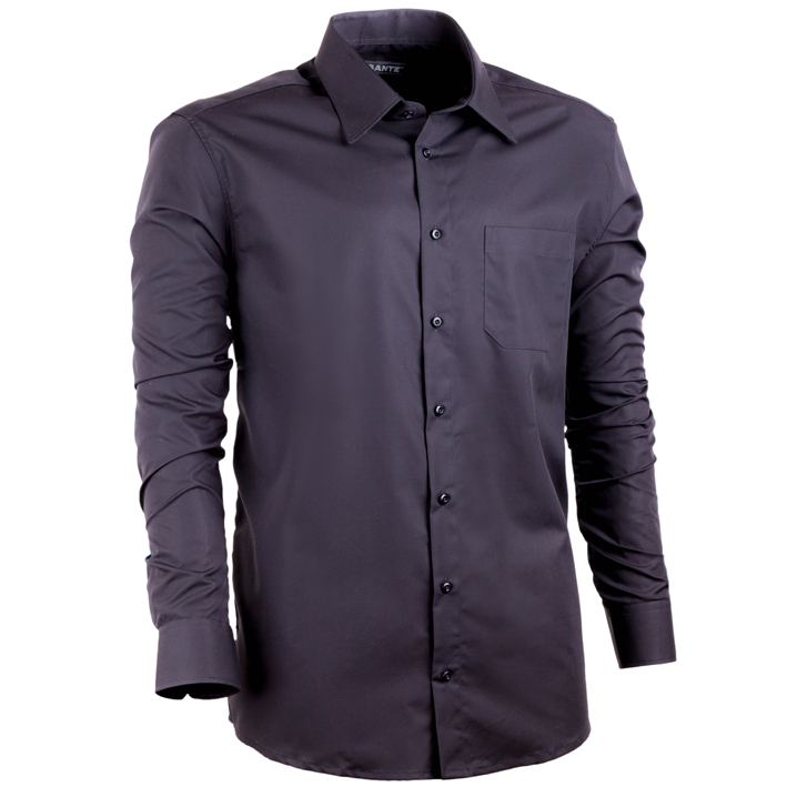 Černá prodloužená košile pánská regular fit 100 % bavlna Assante 20107