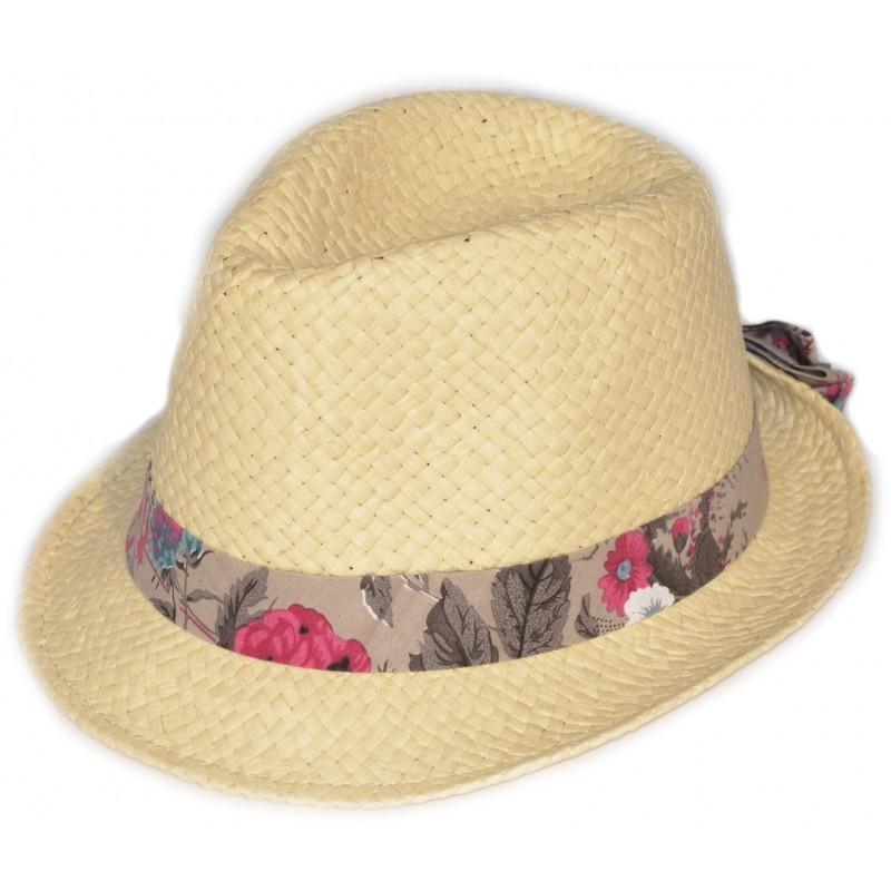 Béžový dámský klobouk letní slaměný Hawkins 161196