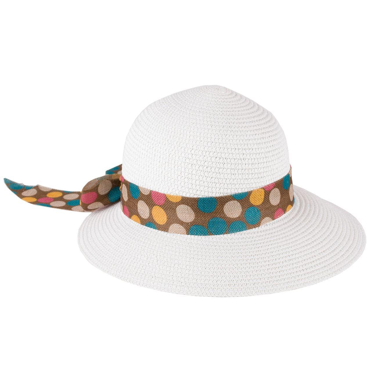 Bílý dámský klobouk letní Assante 161202