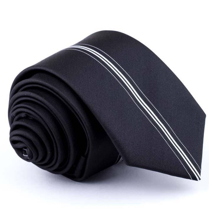 Černá kravata slim fit Greg 91176