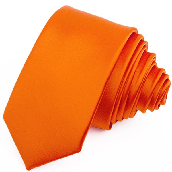 Mrkvová kravata slim fit Greg 99174