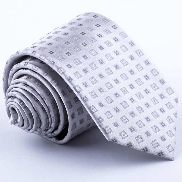 Svatební šedá kravata Greg 91185