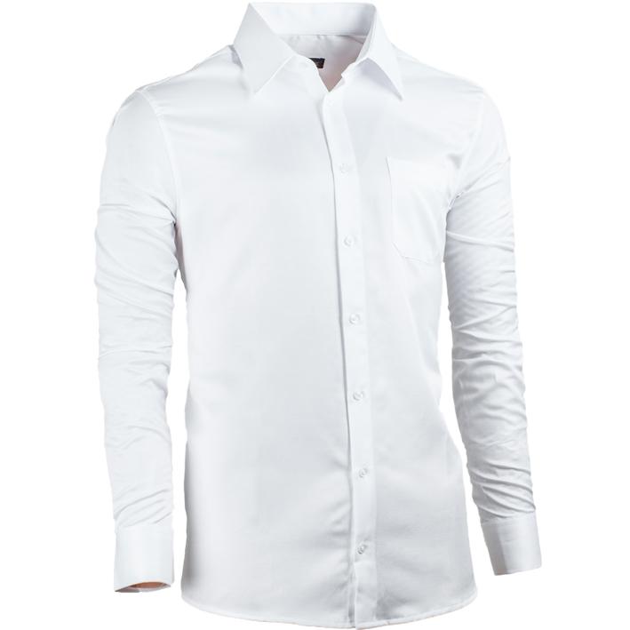 Luxusní pánská košile bílá regular Assante 30041
