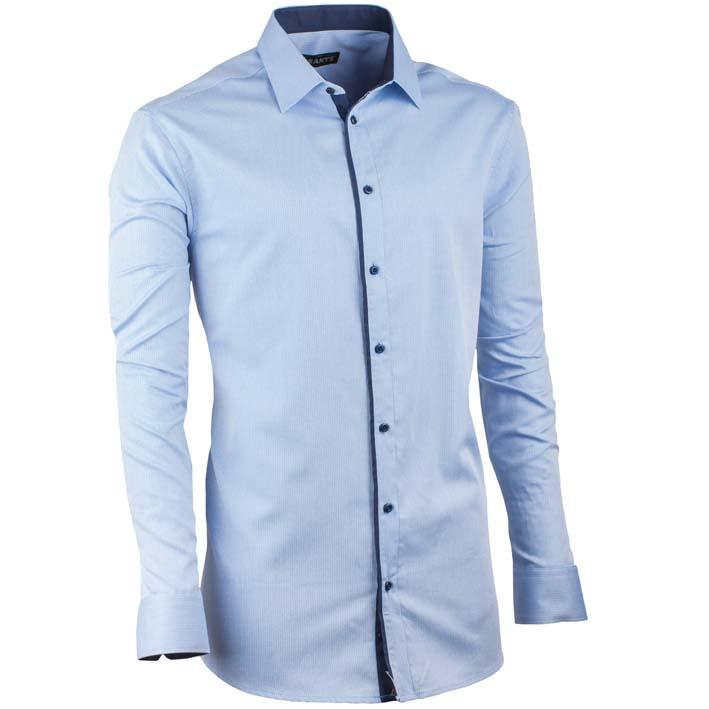 Extra prodloužená pánská košile slim fit blankytně modrá Assante 20404